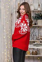 """Теплий светр з кишенею """"кенгуру"""" (темно-сірий, білий) Універсальний розмір 44-52, фото 2"""