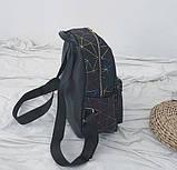 """Женский маленький рюкзак """"ПАУТИНКА"""" школьный портфель черный, фото 3"""