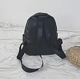 """Женский маленький рюкзак """"ПАУТИНКА"""" школьный портфель черный, фото 4"""