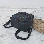 """Женский маленький рюкзак """"ПАУТИНКА"""" школьный портфель черный, фото 5"""