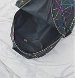 """Женский маленький рюкзак """"ПАУТИНКА"""" школьный портфель черный, фото 6"""