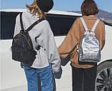 """Женский маленький рюкзак """"ПАУТИНКА"""" школьный портфель черный, фото 9"""