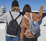 """Женский маленький рюкзак """"ПАУТИНКА"""" школьный портфель черный, фото 10"""