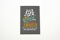 """Мини-открытка 017. 95*65 мм """"World is wide"""", фото 1"""