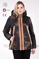 Куртка двусторонняя женская, большого размера, ( 48 - 68 ) м-.757,  Коллекция Весна 2019