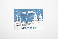 """Мини-открытка  027. 95*65 мм """"Let it snow"""", фото 1"""