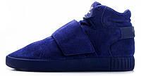 Мужские кроссовки Adidas Tubular Invader Blue (адидас тубулар, синие)