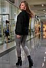 Свитер чёрный женский повседневный р.42-48 вязка, фото 5