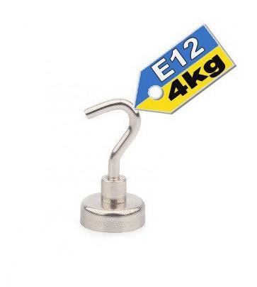 Неодимовый магнит с крючком, держатель Е12, 4кг☀ПОЛЬША☀N42☀ГАРАНТИЯ 30лет☀