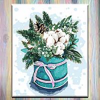 "Картина по номерам, холст на подрамнике, 40х50 Цветы ""Краски зимы 2"", без коробки"