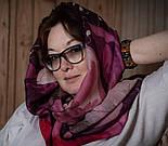 10796-3, павлопосадский шарф-палантин вовняної (розріджена шерсть) з осыпкой, фото 10