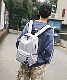 Рюкзак большой BE YOUR STYLE мужской женский чоловічий жіночий школьный портфель серый, фото 5