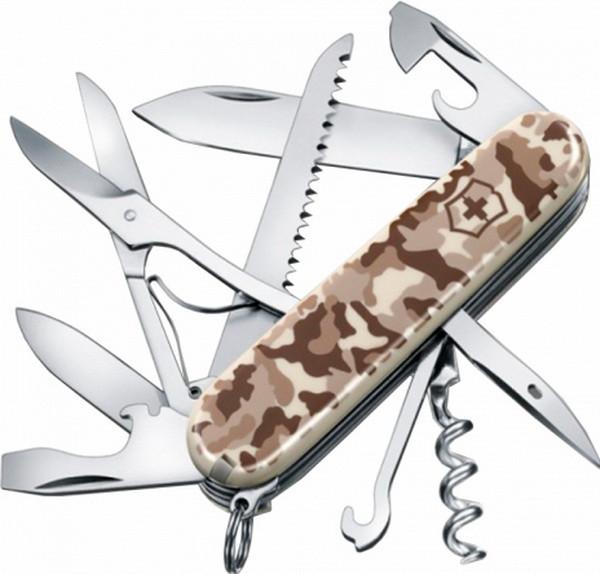 Нож складной, мультитул Victorinox Huntsman (91мм, 15 функций), камуфляж 1.3713.941