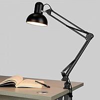 Лампа настольная на струбцине 40 Вт, черная