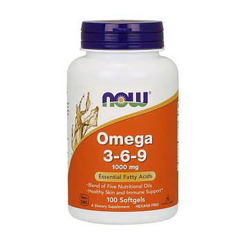 Omega 3-6-9 1000 мг (100 softgels) NOW