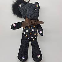 Меховой мишка. Игрушка медведь черный
