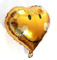 """Фольгированный сердечком шар """"Смайл"""""""