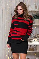 Теплый костюм Свитер с юбкой-мини  цвет в ассортименте Универсальный размер 44-48, фото 2