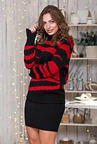 Теплый костюм Свитер с юбкой-мини  цвет в ассортименте Универсальный размер 44-48, фото 3