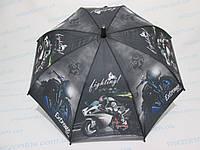 Подростковый зонт с мотоциклом 5-11 лет, фото 1