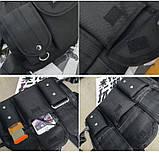 Бронежилет HGUL+BAG нагрудная сумка 0001 черная, фото 2
