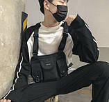 Бронежилет HGUL+BAG нагрудная сумка 0001 черная, фото 6