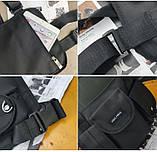 Бронежилет HGUL+BAG нагрудная сумка 0001 черная, фото 5