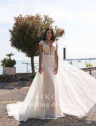Свадебное платье № V501 в наличии без фатиновой юбки-шлейф