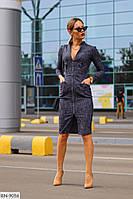 Джинсовое стильное платье на молнии арт 129