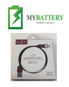USB кабель Hoco U28 магнитный iPhone (1000mm), черный