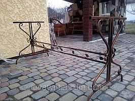 Стол садовый кованый  1,2 м, 1,5 м (боковины 2 шт. + перемычка)
