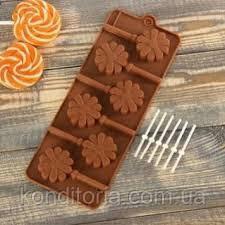 Форма силиконовая для конфет на палочке