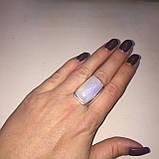 Кольцо лунный камень в серебре. Кольцо с лунным камнем 17,8 размер Индия, фото 2
