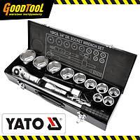 "Набір головок торцевих YATO 3/4"" М30-60 мм, 15 од. YT-1334"