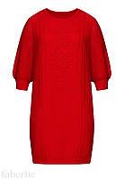 Вязаное платье с сутажной вышивкой, размер 52, фото 1
