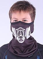 Подростковый термоактивный бафф SportZone Maska MLK. Теплая лыжная маска.