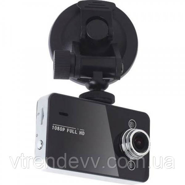 Видеорегистратор автомобильный съемный DVR K6000 черный