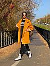 Женское Пальто - кимоно из вареной шерсти с отложным воротником и карманами 71pal244, фото 2