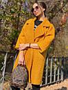 Женское Пальто - кимоно из вареной шерсти с отложным воротником и карманами 71pal244, фото 3