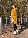 Женское Пальто - кимоно из вареной шерсти с отложным воротником и карманами 71pal244, фото 4