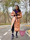 Длинное зимнее двухстороннее Пальто с капюшоном 71pal249, фото 2