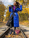 Длинное зимнее двухстороннее Пальто с капюшоном 71pal249, фото 3