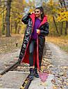 Длинное зимнее двухстороннее Пальто с капюшоном 71pal249, фото 4