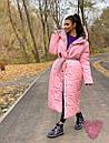Длинное зимнее двухстороннее Пальто с капюшоном 71pal249, фото 5