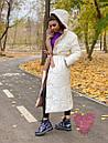 Длинное зимнее двухстороннее Пальто с капюшоном 71pal249, фото 6