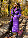 Длинное зимнее двухстороннее Пальто с капюшоном 71pal249, фото 7
