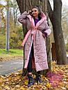 Длинное зимнее двухстороннее Пальто с капюшоном 71pal249, фото 8