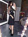 Платье с пышной юбкой миди и кружевным верхом 66plt289Q, фото 2
