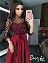 Платье с пышной юбкой миди и кружевным верхом 66plt289Q, фото 5