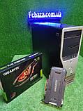 Игровой Настроенный Dell Precision t3500, 6(12) ядер, Core i7 (Xeon) 24gb ОЗУ, 250SSD+1000GB HDD, GTX1060 3 GB, фото 2